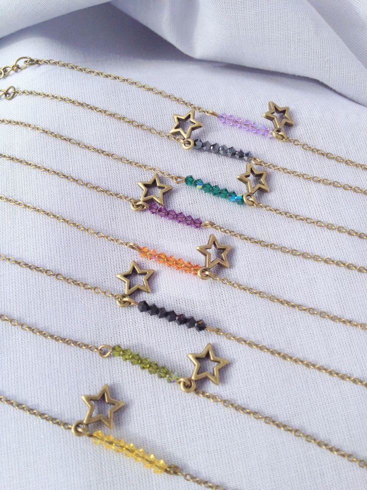 bracelet 'cristal étoilé' : Bracelet par l-atelier-de-timahe