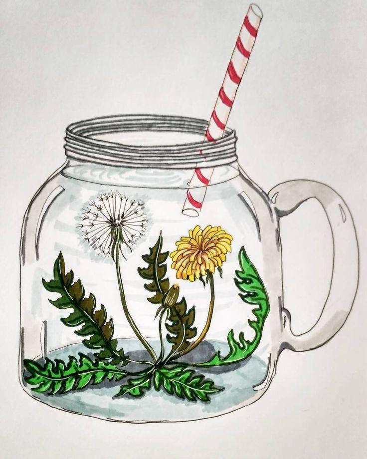 66 отметок «Нравится», 4 комментариев — Artist / HennaArtist / Blog (@injurka) в Instagram: «Лето в банке.  . . . #sketch #sketchbook #art #artbook #artist #marker #markers  #postcard #paint…»