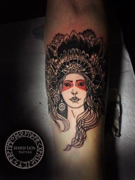 #tatoo #тату #индианка