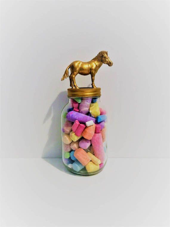Gold Zebra Mason Jar Topper // Home Storage Décor // Mason Jar Storage // African Animal // Animal Jar Lid Decoration // Animal Mason Jars