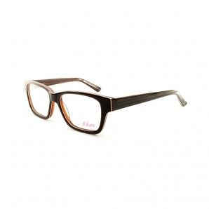 Prescription Glasses s.Oliver 93913 Black with Orange elements