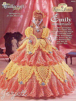 Emily of Portland, Ladies of Fashion crochet patterns fit Barbie dolls