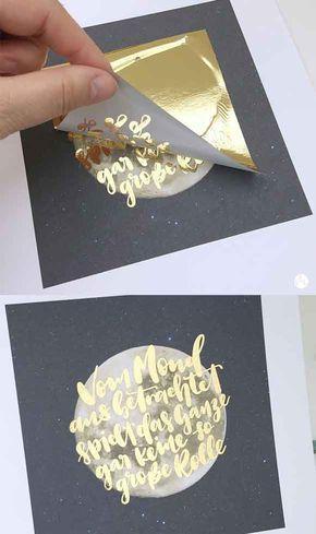 Handlettering folieren mit dem Laserdrucker