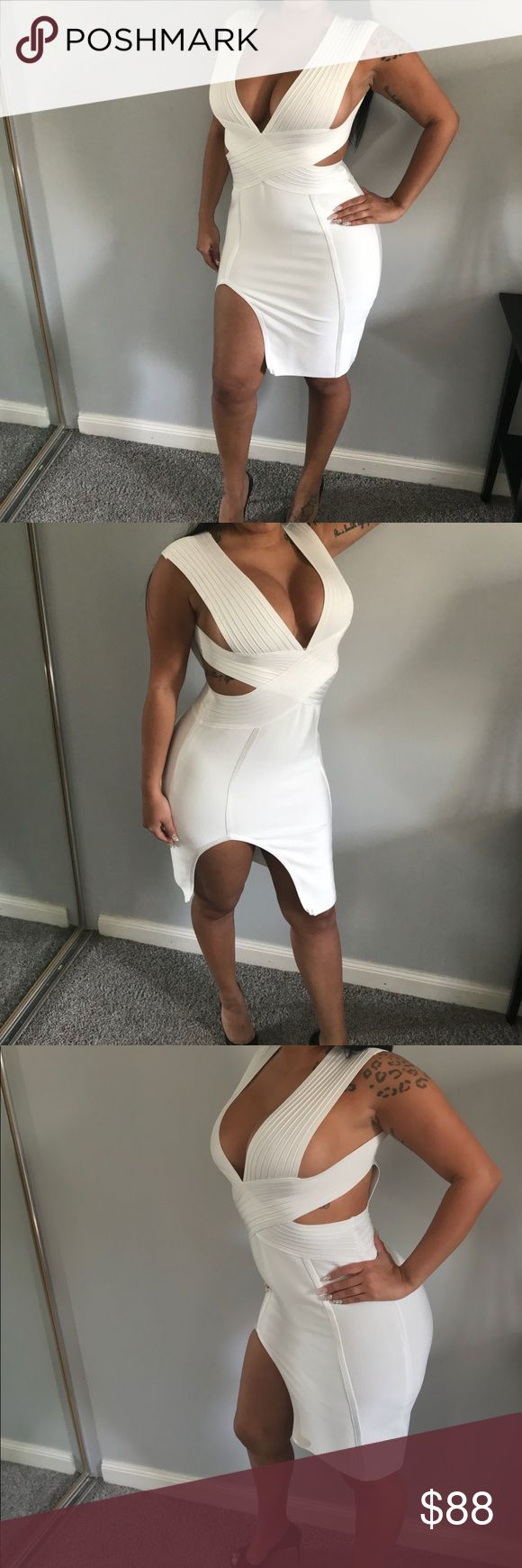 "The ""Angela"" 💎White Bandage Dress💎 💎Available in size: S, M, L💎 💎Premium Quality💎 💎Please refer to size chart for correct sizing💎 💎NO Offers/Trades💎 💎ALL SALES ARE FINAL💎 Chic By Nathalie Dresses Mini"