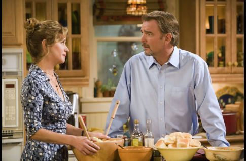 Nancy Travis and Bill Engvall