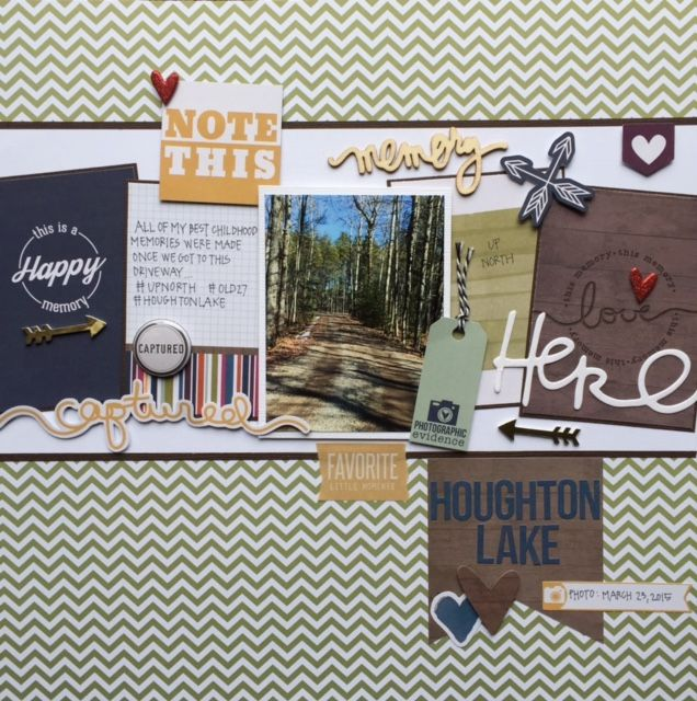 Happy Memory - Simple Stories - SNAP Color Vibe Collection - Bolds - 12 x 12 Double Sided Paper - Olive: Happy Memory - Simple Stories - SNAP Color Vibe Collection - Bolds - 12 x 12 Double Sided Paper - Olive
