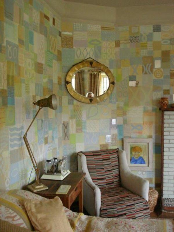 Kombinasi Warna Hijau Yang Berbeda Pada Dinding Kamar Tidur