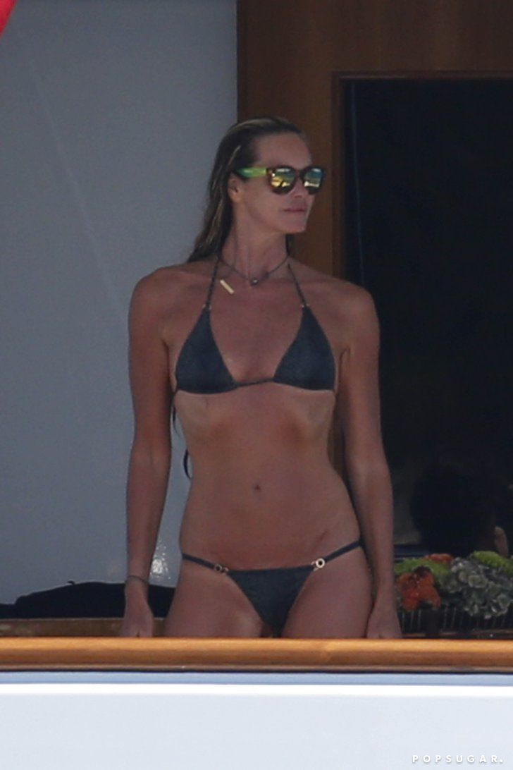 Pin for Later: The 40 Best Bikini Moments of 2014! Elle Macpherson's Impressive Bikini Bod In July, Elle Macpherson put her impressive bikini body on display while on a yacht in Sardinia, Italy.