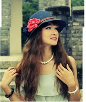 Nueva llegada de moda playa de verano sombrero sombrero de paja sombrero sombrero plegable