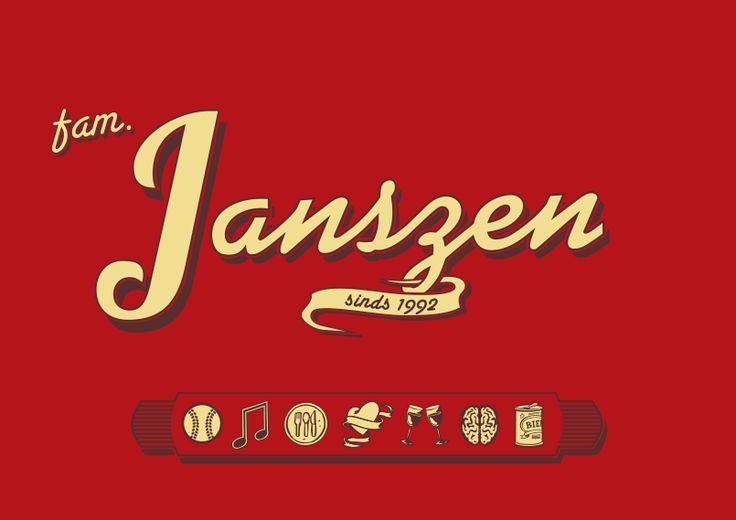 T-shirt design familie Janszen
