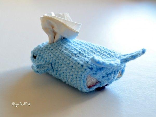 Whale Tissue Cozy 4- Pops de Milk