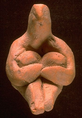 Harappan Seated Male Figurine, Indus Valley (Harappa flourished from 2600 t0 1700 BCE)