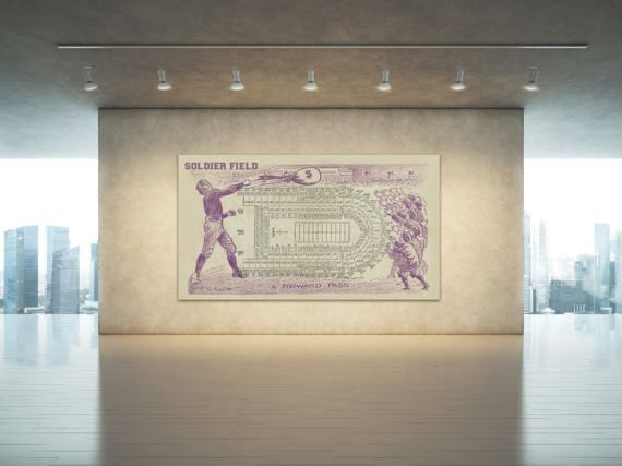 Print of Vintage Soldier Field Seating Chart Seating by ClavinInc