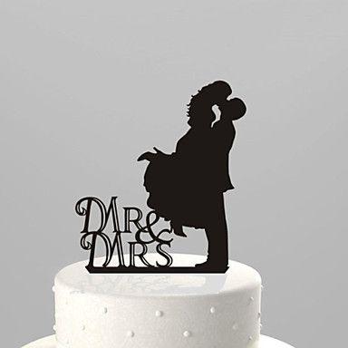 Décorations de Gâteaux Non personnalisée Couple classique Acrylique Mariage / Commémoration / Fête prénuptiale Noir Thème de jardin 1 de 3081964 2016 à €7.83