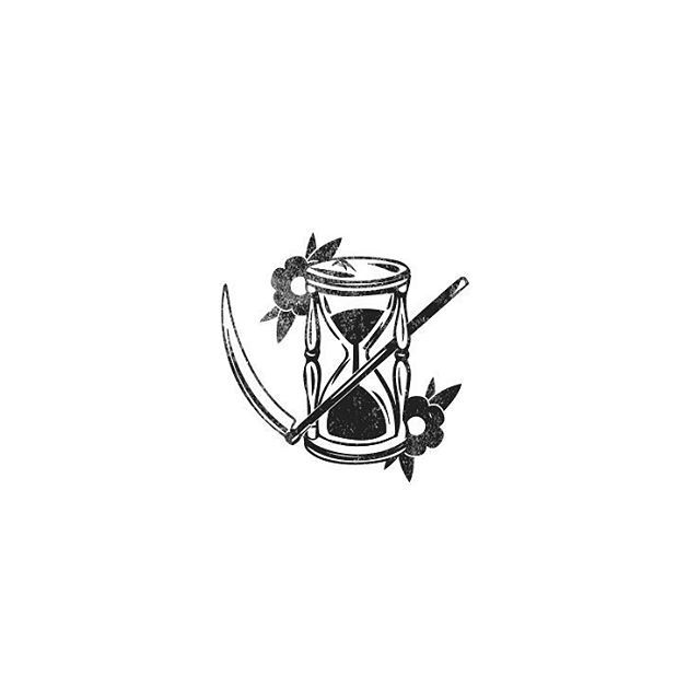 """Life to Death is only a matter of time. Do that """"thing"""" this year you've been thinking about. Happy New Year everyone!   #design #branding #logo #illustration #blackwork #graphic #minimalist #icon #tattoo #slowroastedco"""