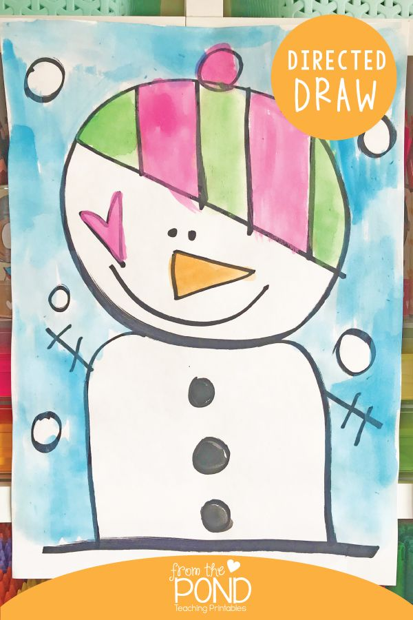 Winter Directed Drawing : winter, directed, drawing, Snowman, Directed, Drawing, Kindergarten,, Winter, Projects