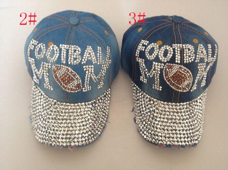 Бесплатная доставка оптовая продажа мода шляпа шапки sunshading мужчин и женский футбол крышка горный хрусталь шляпа джинсовой и хлопок крышки snapback