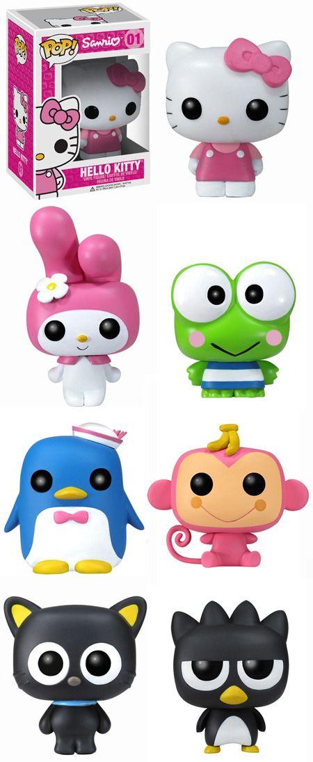 Funko Pop! Vynil Sanrio Figures ~ Hello Kitty, My Melody, Keroppi, Tuxedo Sam, Monkichi, Chococat Badtz-Maru.