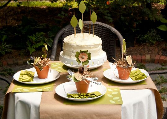 plant a seed birthday party. how fun for a late spring birthday!