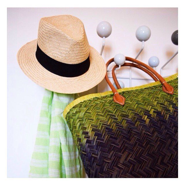 Hat Trick  #green #pestemal #pestemalno #panamahat #hamam #turkishtowel #håndkle #beachbag #bagslover #beach #summer #hangitall #eames #summeressentials #ss16