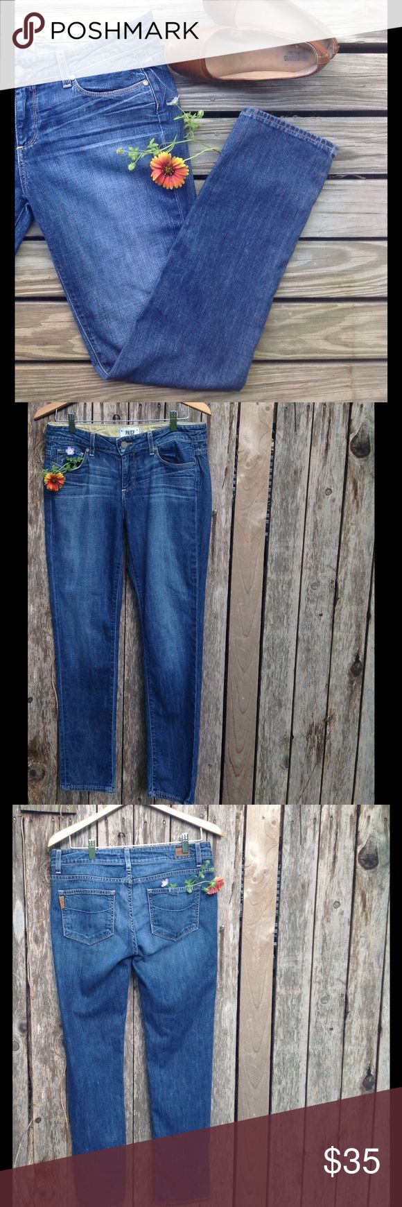 Paige Skinny Skinny Jimmy Jeans Excellent Condition, very light wear. Color very good throughout, no tears, visible wear, etc. Paige Jeans Jeans Skinny