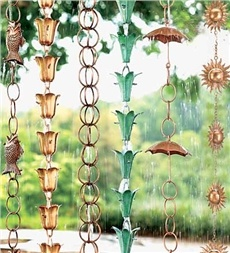 Rain Chain-Cause these are so much cooler than having a gutter drain down the side of your house!