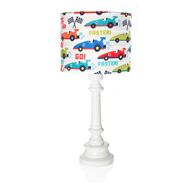 RACE CARS lamp for boys - Lamps & Co.  RACE CARS is a remarkable table lamp for boys and a good idea for additional lighting in boy's room.