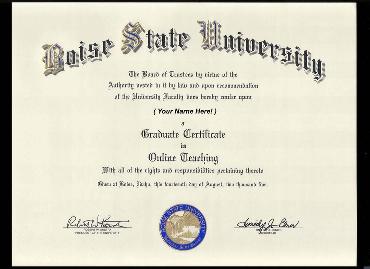 Award Certificate Boise State Template Pinterest Template - certificate of recommendation sample