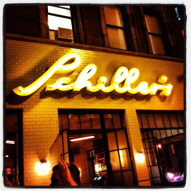 Schiller's Liquor Bar - lower east side - lively scene, especially on weekends, steak-frites kinda place.