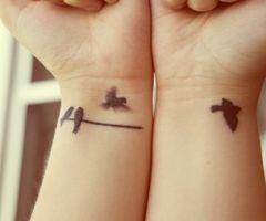 bird on a wire tattoo