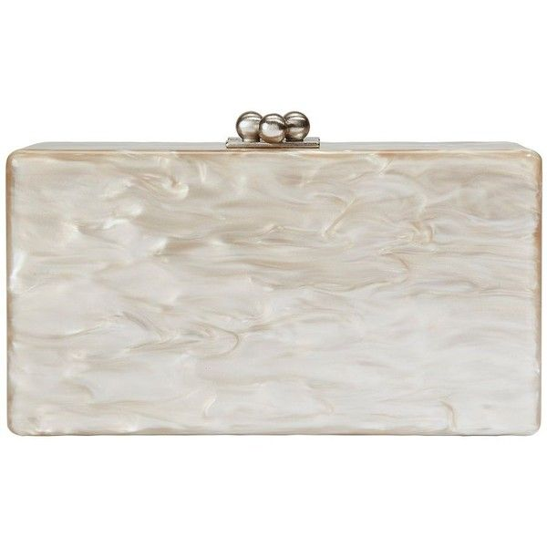 Edie Parker Women's Jean Taupe Clutch (55.275 RUB) ❤ liked on Polyvore featuring bags, handbags, clutches, kisslock purse, edie parker clutches, edie parker handbags, kiss lock handbags and taupe handbag
