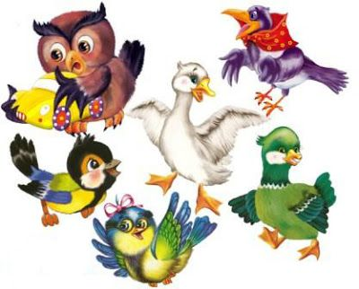 Играем до школы: Мои отрисованные картинки Птички