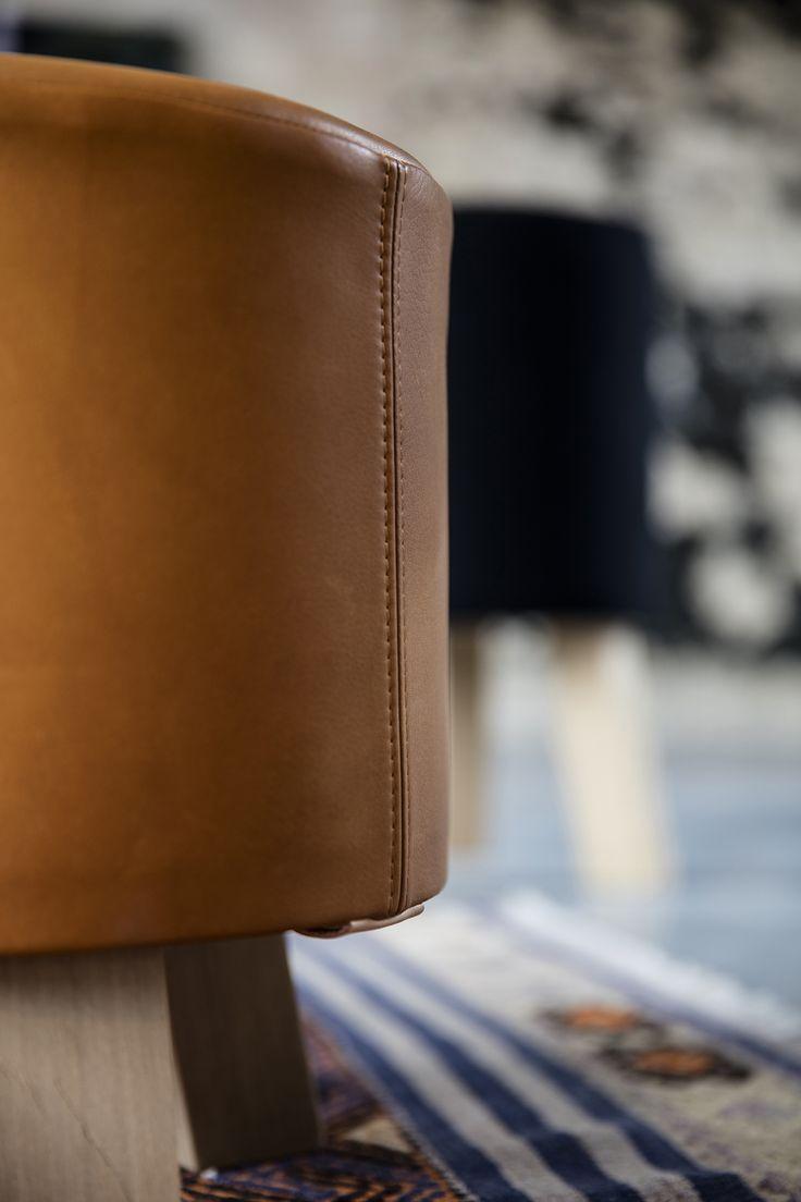 STOOL designed by Anne Boysen #skammel #stool #anneboysen #leather #ottoman