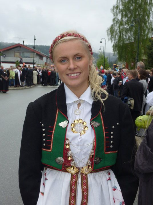 Independence Day 17 of May A beautiful Norwegian girl in her Bunad from the southern part of Norway (Agder)