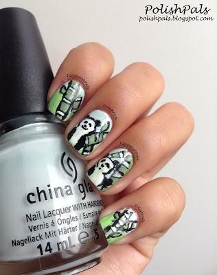 Panda Bear Nails <3