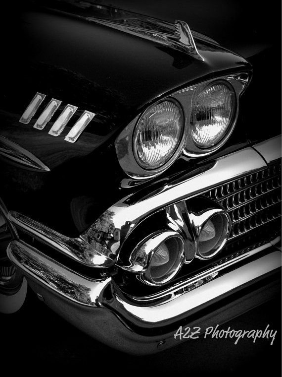 This is an 58 Chevy Impala that belongs to my uncle. It was his car growing up and now has had it restored. She is a beauty! Would be the perfect addition to any mancave. Photo by A2Z Photography see more at www.facebook.com/a2zphoto #chevy #impala #oldcars #chevrolet #gift #decor