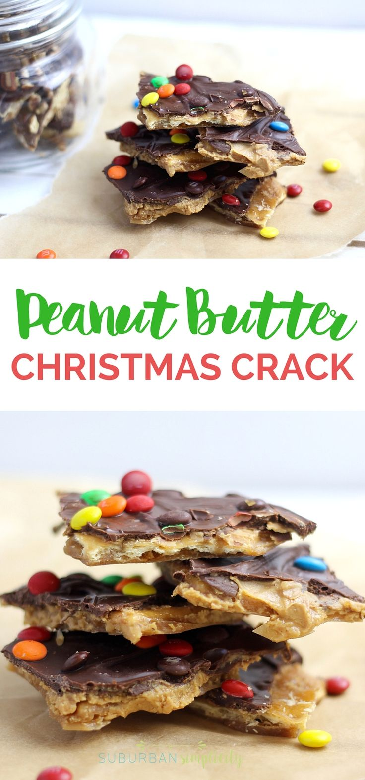 This Peanut Butter Christmas Crack is nothing short of AMAZING. Melt in your mouth good. It's a great homemade gift idea too! #Christmascrack