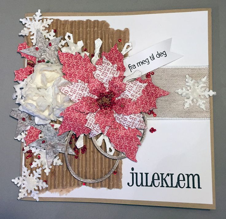 Christmas card with snowflake paste