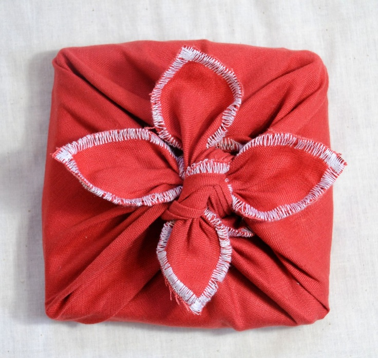 Gift Wrapping.  More tutorials at http://furoshiki.com/technique_basic_wrap