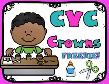 Crowns are a fun and hands on way to introduce any objective, especially blending those CVC Words.  Your students will love making cvc words in your abc centers, literacy centers, use them in small group or with learning pairs/partners.  These are also great for your ELL and ESL classrooms.keywords:  CVC Word Work, CVC Crowns, Interactive CVC WordsTHIS IS A SAMPLE OF MY CVC CROWNS PACK!