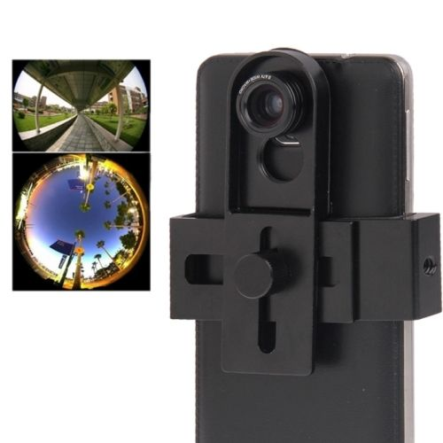 Universal 3 in 1 Photo Lens Kit  (180 Degree Fisheye Lens + Super Wide Lens + Marco Lens) with Adjustable Metal Clip for Samsung Galaxy Note III / N9000 / i9500 / iPhone 5 & 5S & 5C, Width of Less Than 9.5cm Models, Black (Black)
