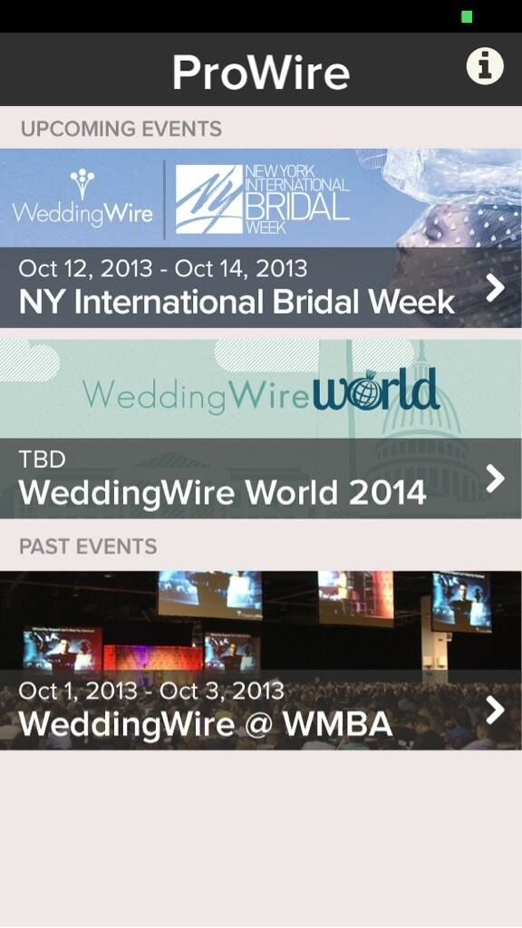 Want to keep up with WeddingWire wherever we go? Download our app, ProWire! We update each time we attend an event! https://itunes.apple.com/ca/app/prowire/id714567923?mt=8