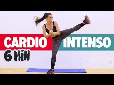 ADELGAZAR RÁPIDO: Cardio intenso 6min | Fat Burning Cardio Workout - YouTube