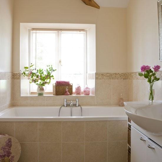 Small Bathroom Ideas: Bath Under Window To Maximise Space