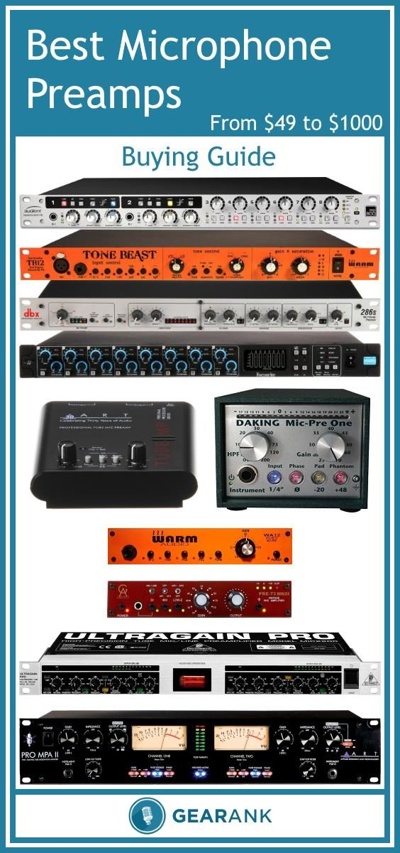 Detailed guide to the Best Microphone Preamps from $49 to $1000. Along with a list of the highest rated mic preamps this guide explains Transparency vs Coloration, Input and Output Ports, Channels, Form Factor and much more.