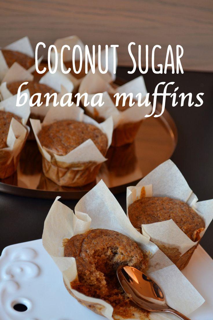 Muffins μπανάνας με ζάχαρη καρύδας - Craft Cook Love