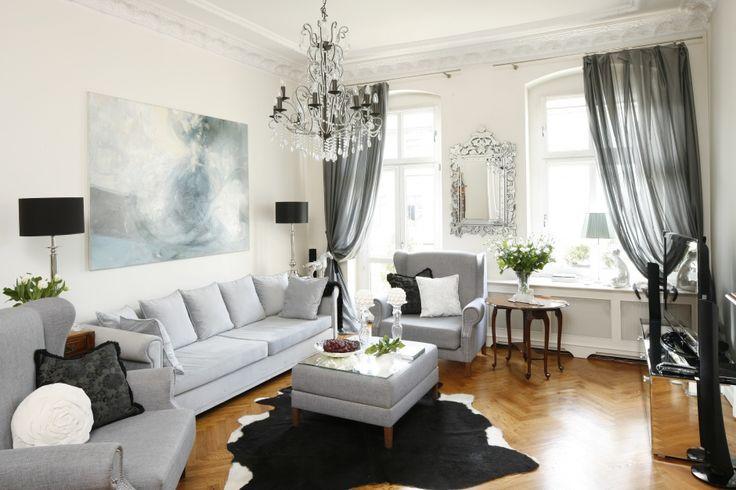 Szary salon: 20 pięknych wnętrz  - zdjęcie numer 11