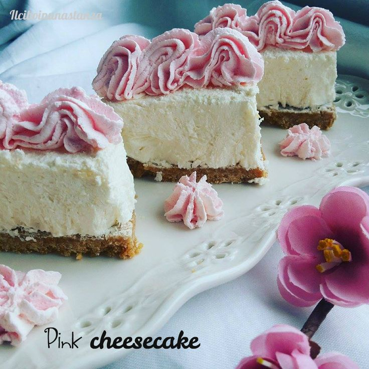 Pink cheesecake