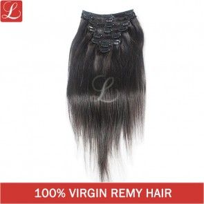 Natural Black Color #1b 20 Clips 8 pieces Straight Human Remy Hair Clip In Extensions http://www.latesthair.com/