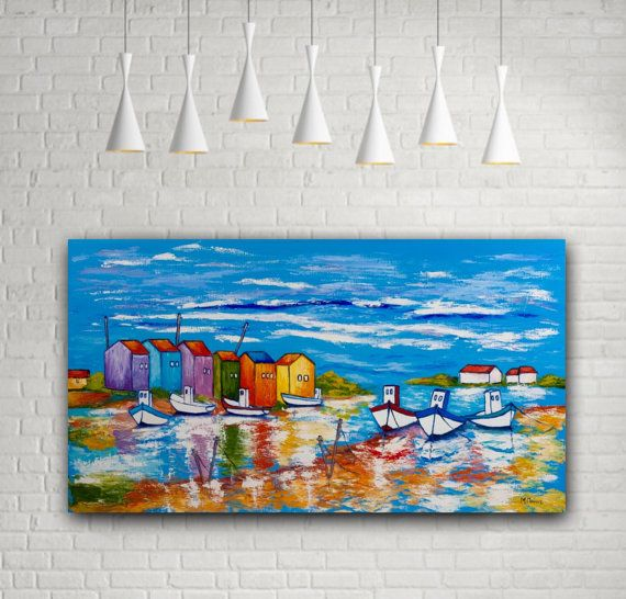 Bright Sea Print Sea poster Seascape giclee Original by MaritimArt